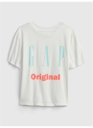 Gap Gap Logo T-Shirt Beyaz